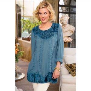 Soft surroundings blue moon vintage style tunic